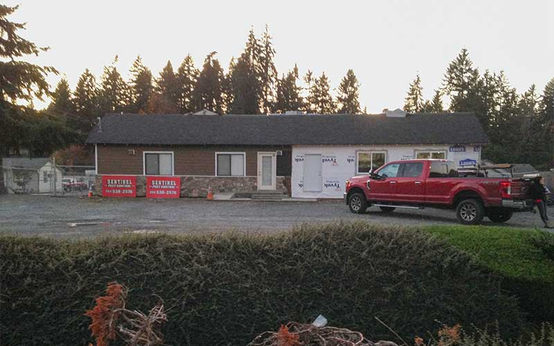 Before construction of commercial addition for Sentinel Pest Control